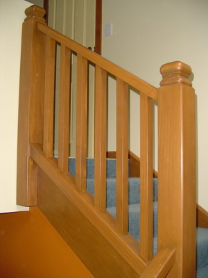 Square turned newel posts