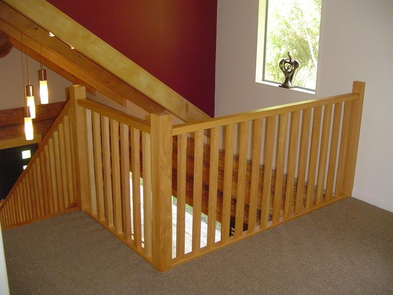 Square Wooden Balustrade With Plain Posts